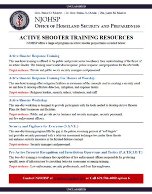 training resources training resources active shooter emergency action plan