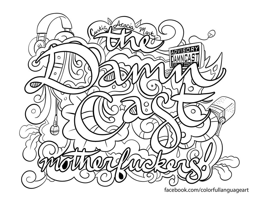 damncast coloring page