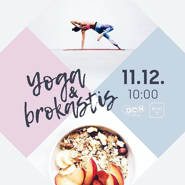 Kopā ar @dchstudija nolēmām, ka ir vērts jums mazliet atgādināt neaizmirst par sevi lielajā pirmssvētku skrējienā un gluži vienkārši ļauties vienam skaistam rītam ar mierpilnu jogu @maija_un_kaijas paspārnē un mūsu spēcinošajām brokastīm. Pievienosies?  JOGA & BROKASTIS 11.DECEMBRĪ | 10:00 | DCH Studijā 15EUR (DCH draugiem) | 25EUR (viesiem) Piesakies DCH Studijā vai info@dchstudija.lv