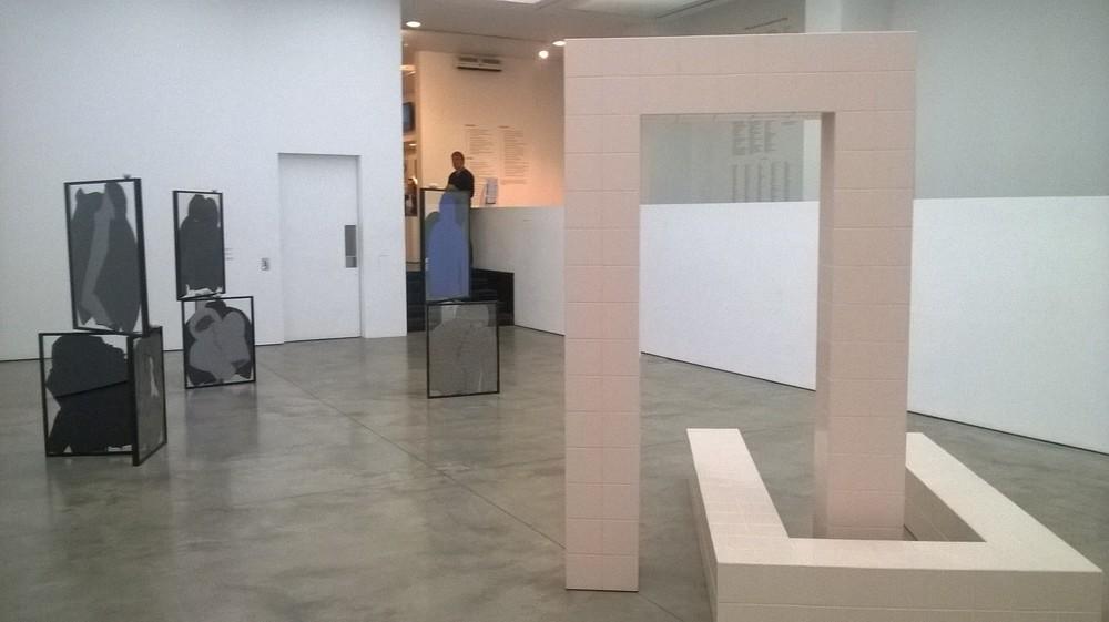Prem Sahib, Called Out, 2015, Wood, ceramic tiles, grout.