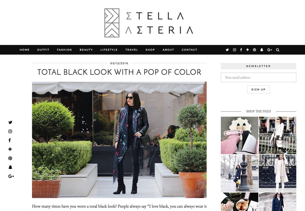 Luxury Fashion Scarf Style Paris from a friend of mine on Stella Asteria Selfridges