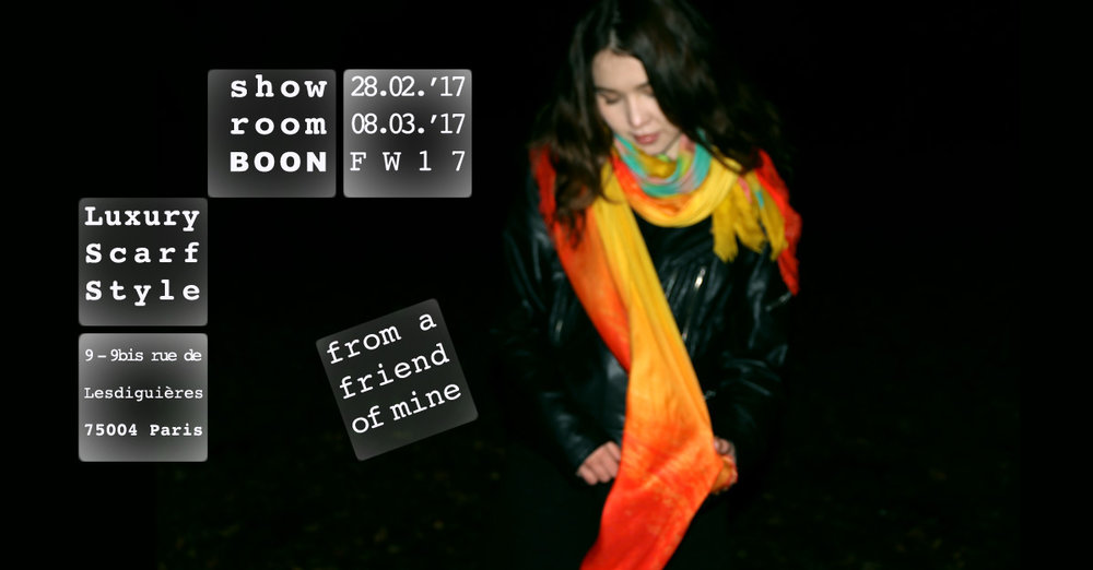 Copy of Copy of Luxury Scarf Style Paris from a friend of mine fashion week showroom boon Colette Isetan Le Bon Marché