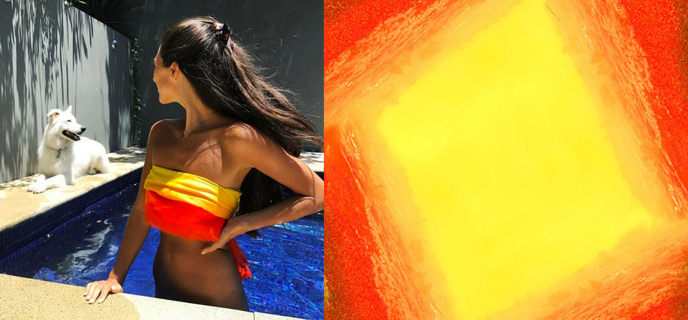shop luxury cool orange big summer square scarf paris taipei david jones colette goop vogue alexandra talifero