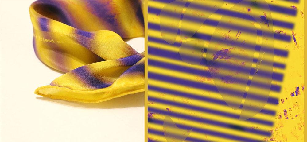 buy yellow silk square scarf paris tokyo stylish bandana colette harrods elle isetan