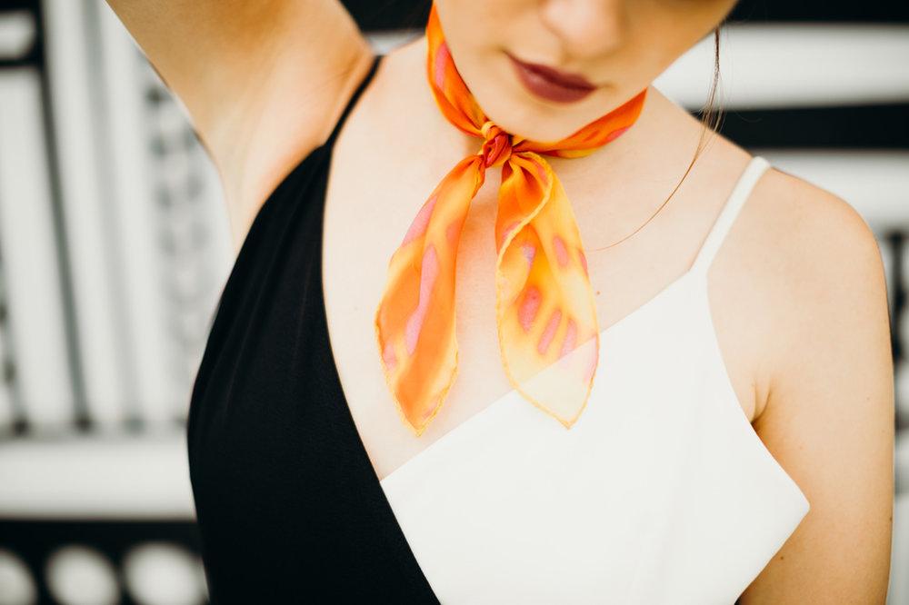 buy orange silk scarf online paris taipei tokyo isetan bon marché barneys new york selfridges