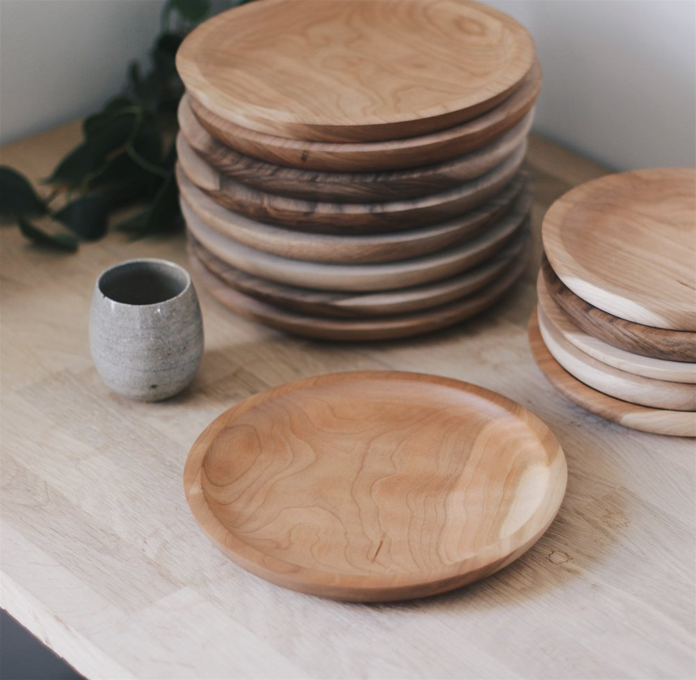 9  Cherry Wood Plate & Shop u2014 Wooden u0026 Woven