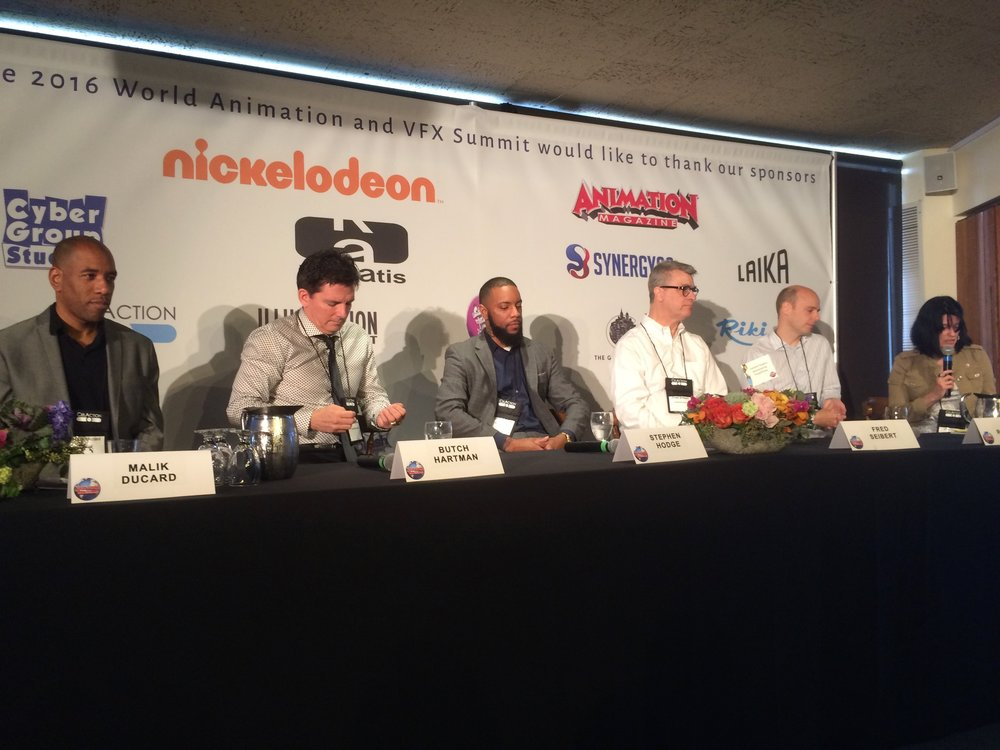 Guide to Successful Streaming 2.0 Panel - This panel they discussed how animation is changing, and more and more opportunities through sVOD(Streaming Video On Demand).  Networks like Netflix, Hulu, HBO, Amazon Prime, etc.
