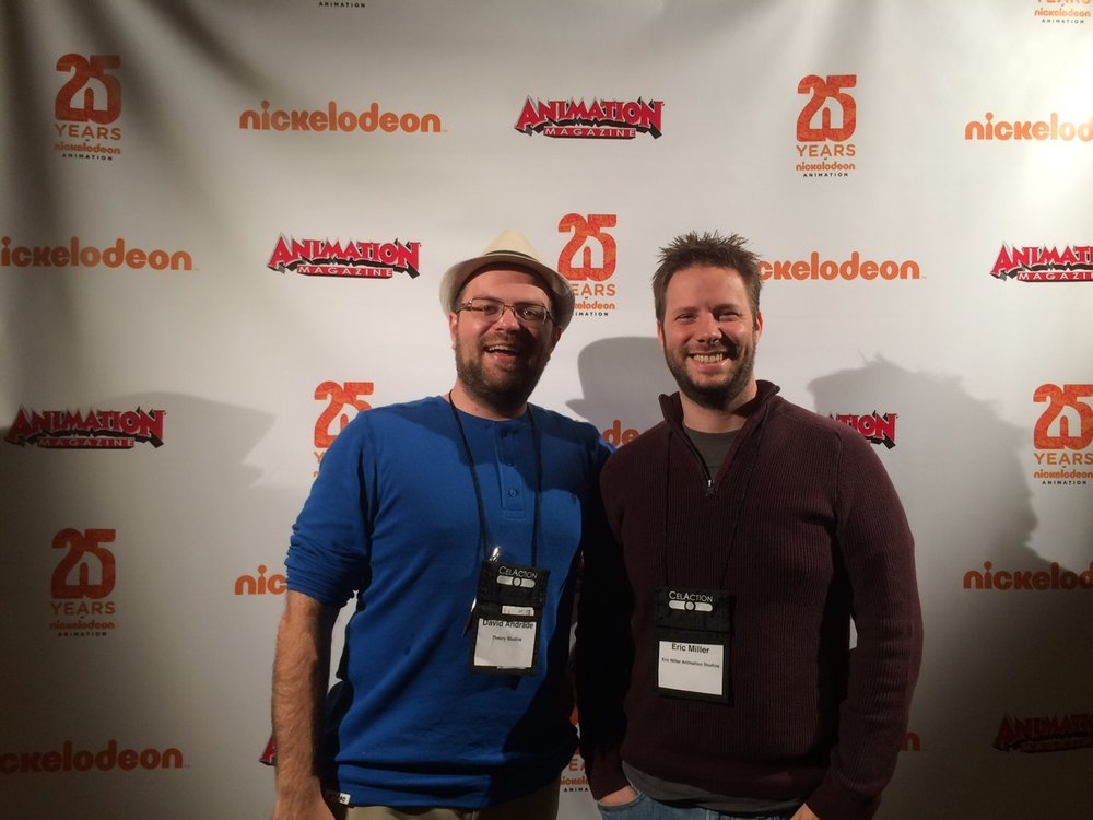 Eric Miller with David Andrade, Co Founder of Theory Animation.
