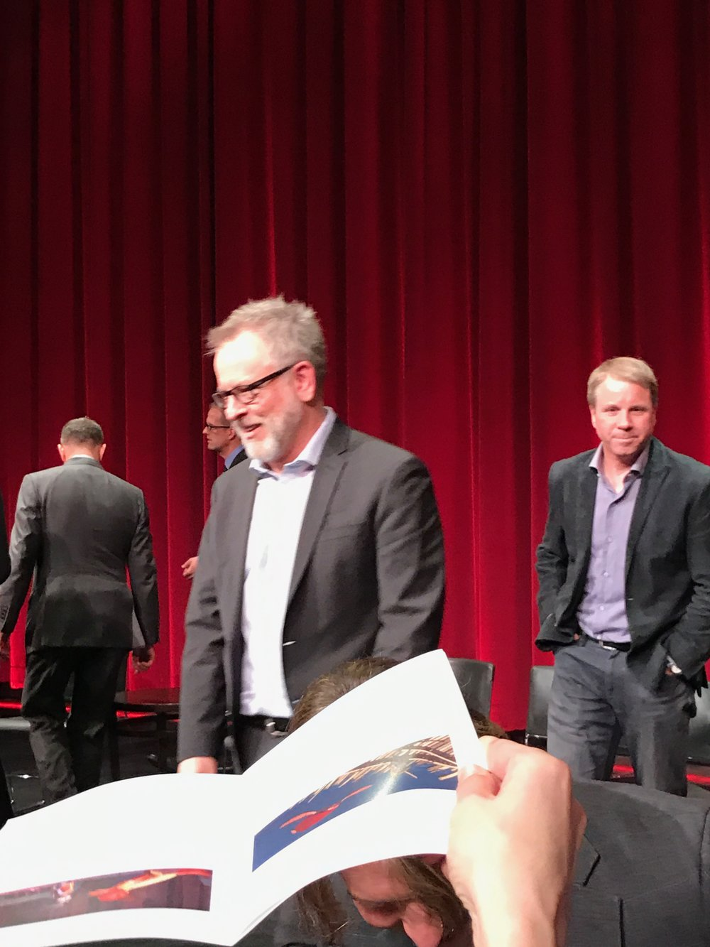 Zootopia Co-Director Rich Moore, with Producer Clark Spencer behind him on the right.