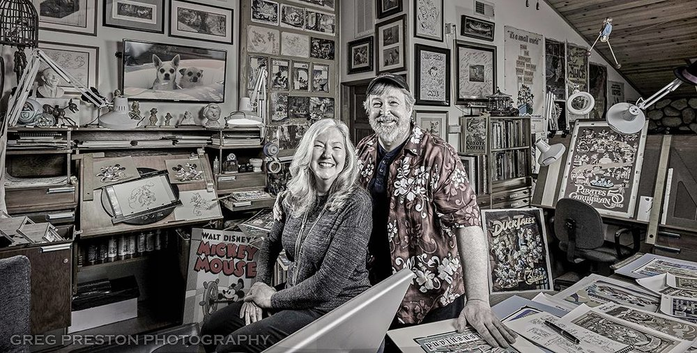 "Patty with husband Mike Peraza - Photo Credit: Greg Preston (Found in the new book  ""The Artist Within Book 2"" )"