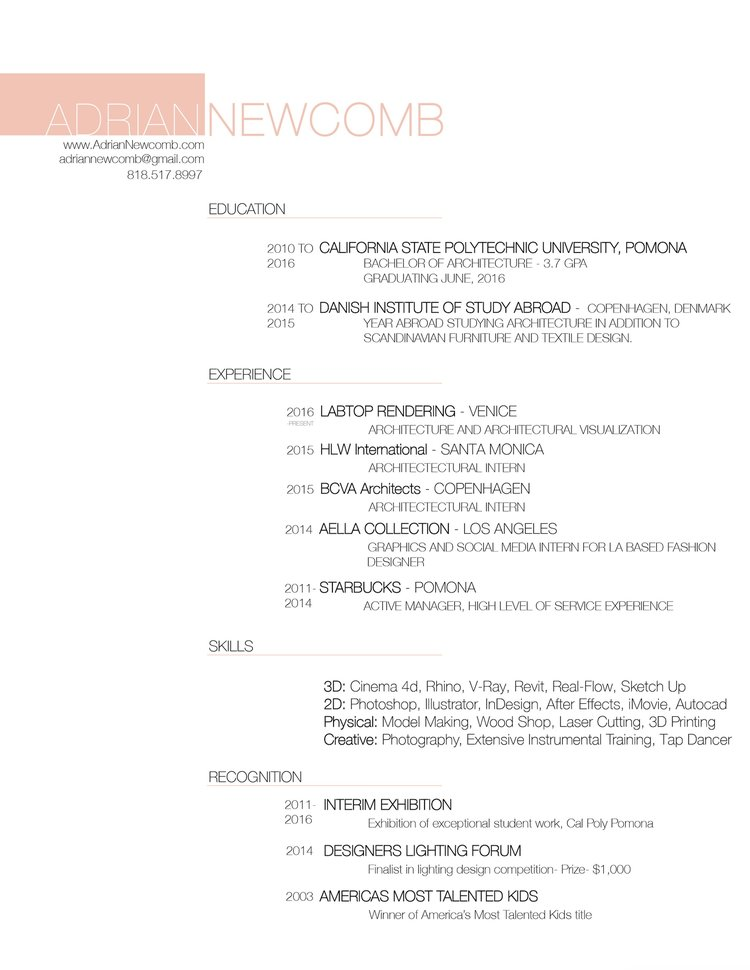 Resume Adrian Newcomb