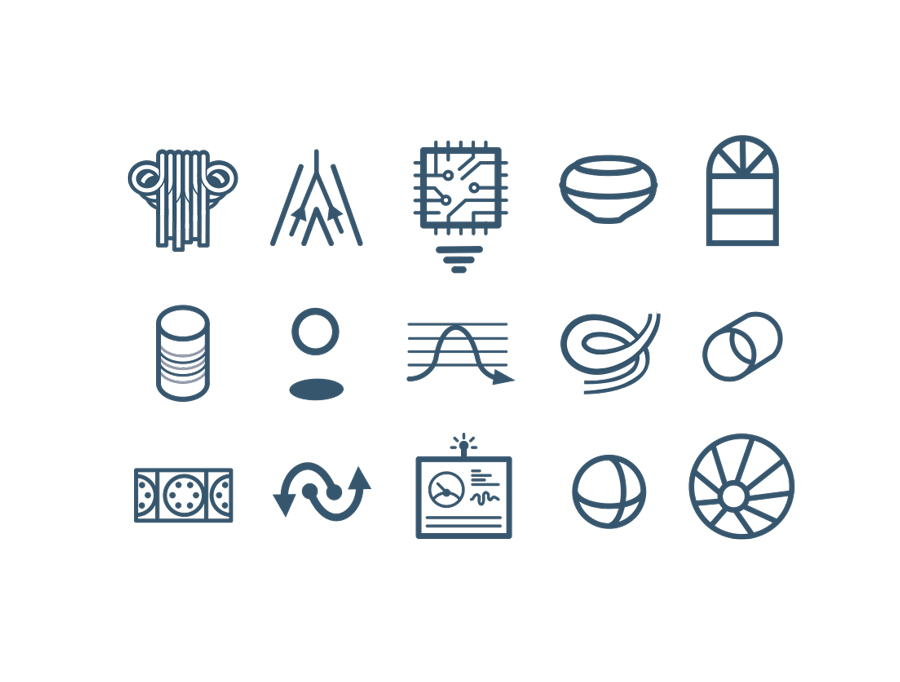 Icons  - A set of 50 icons we're developed to help in breaking up text heavy technical documents and add quick reference points about attributes and features.