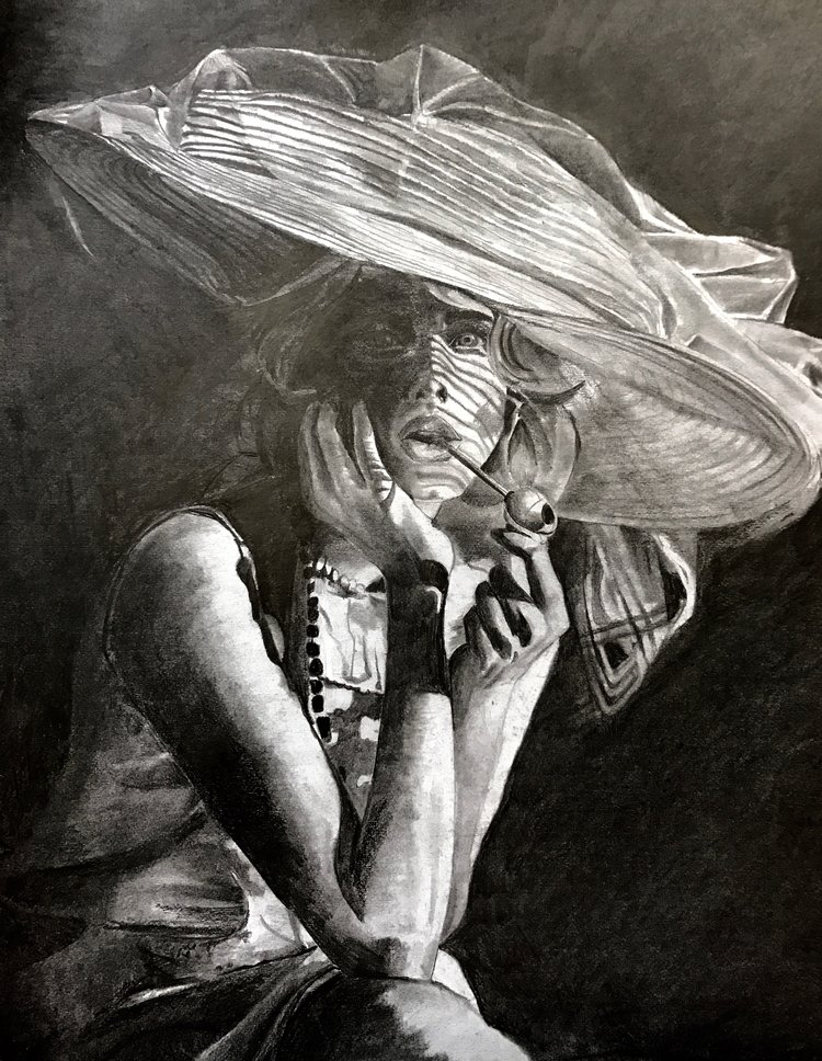 Copied from Photograph. Graphite