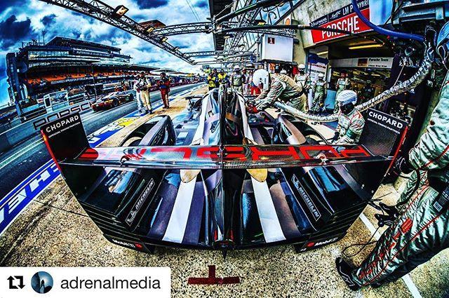 #Repost @adrenalmedia with @repostapp ・・・ PORSCHE LMP1 in the pit  Fujifilm X / 8mm Fisheye - #travelshooteditrepeat #xphotographer #fujifilm_xseries #fujifilm #xpro2 #xpro #xt1 #pitlane #lemans24 #lemans #lm24 #art #repost #fuji #repostmyfuji #motion #official #lifeasaphotographer #photographer #photography #instacar #photooftheday #picoftheday #motorsport #extreme #sport #thefujipro #adrenalmedia