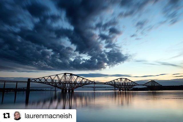 #Repost @laurenmacneish with @repostapp ・・・ Forth Rail Bridge at twilight.  One of my favourite places 🙂  #shootmirrorless #fujiholics #mirrorless #fujifilm #longexposure