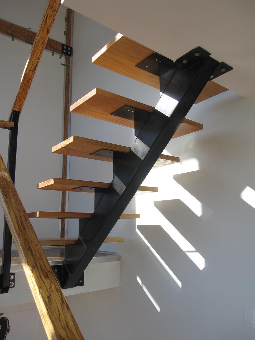 Regenerate Construction: Steel Staircase + Fir Treads