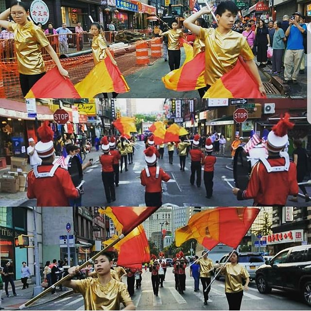Happy #marchforth!  Marching forth since the 1950s March with us. Recruiting now.  #nycrimsonkings #nycs #ccba #drumcorps #drumline #fife #bugle #colorguard #newyorklife #chinatown #newyorkcity #marchforth #marchingmusicday #marchck
