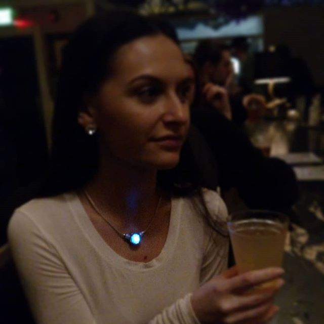 A glimpse of our most recent prototype out on the scene. Exciting things to come! Thanks @kristikrikris for modeling :) #heliablu #ledjewelry #fashiontech #nightlife #statementnecklace #nightlights #fashionistas #smartjewelry #futurejewelry #jewelrytech #statementjewelry #nightfashion #wearable #lightupthenight #wearabletechfashion