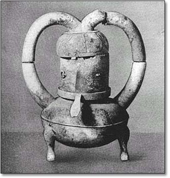Distiller from the Han dynasty, 1st century A.D. Credit:  Islam Inventions