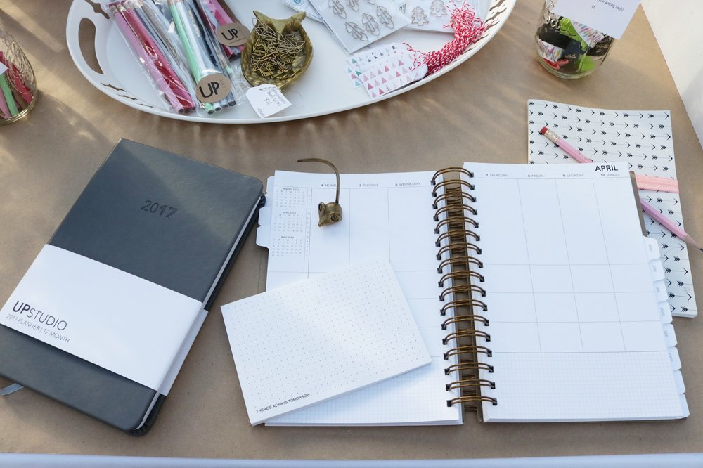 Photo of UP Studio journal + desk accessories.  So good, right?!