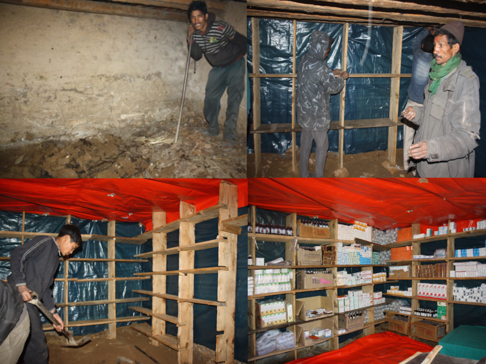 Karan's mother's cowshed converted into the Foundation's first generation pharmacy and clinic in 2013.