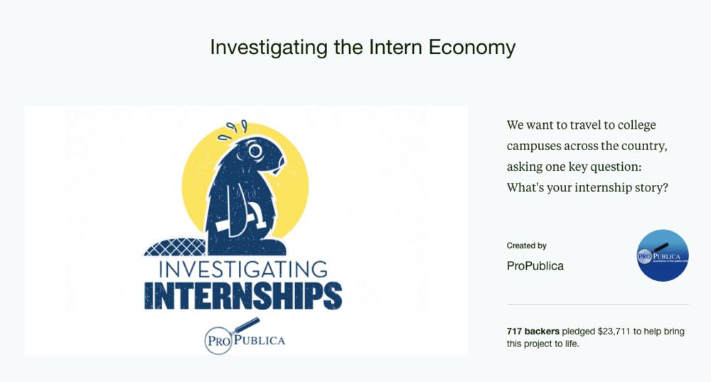 Investigating Unpaid Internships