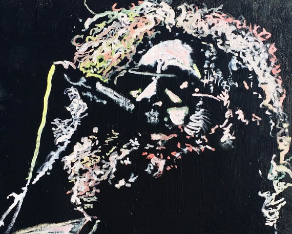 Jerry Garcia Painting 20x16 by Matt Pecson