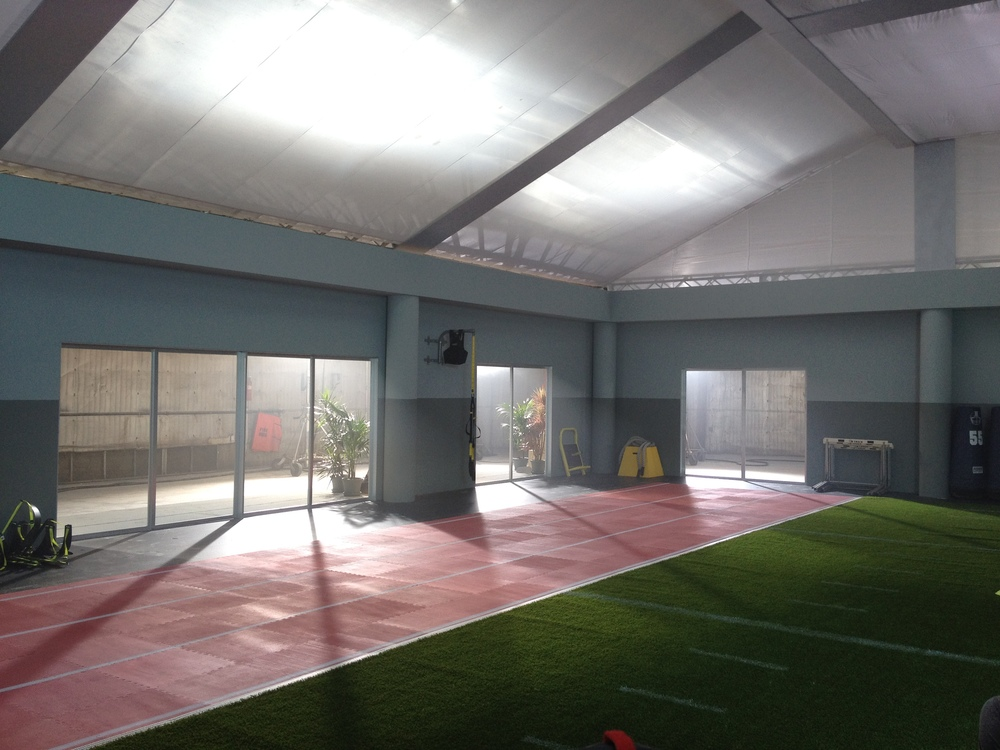 A portion of the field house we built at Red Studios in LA.