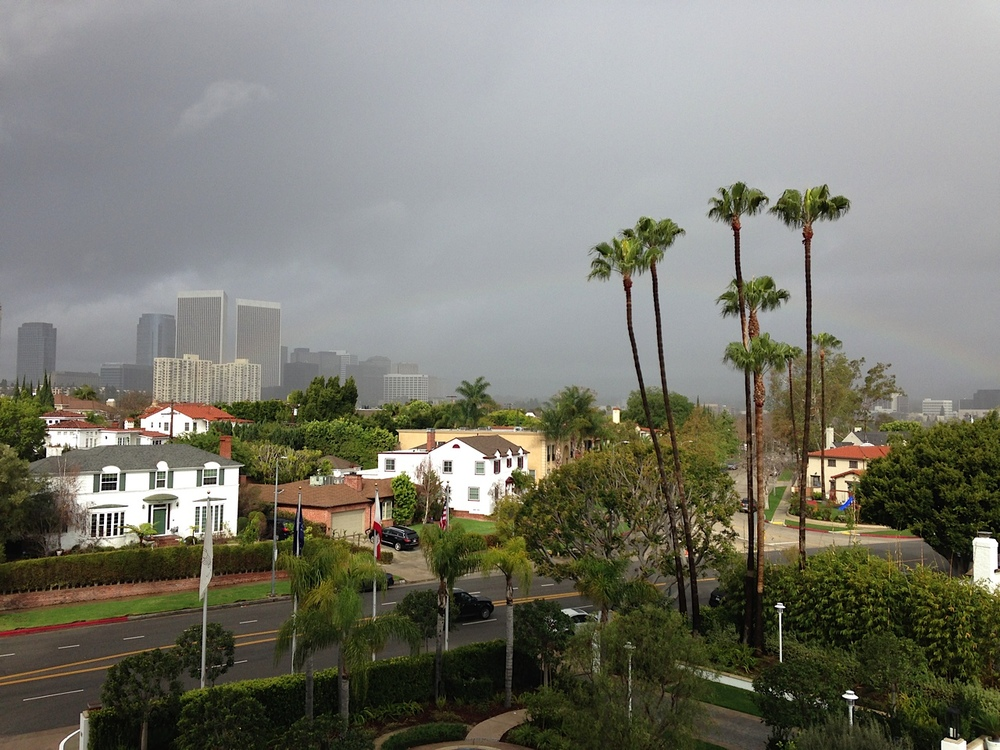 The dark and stormy LA sky.