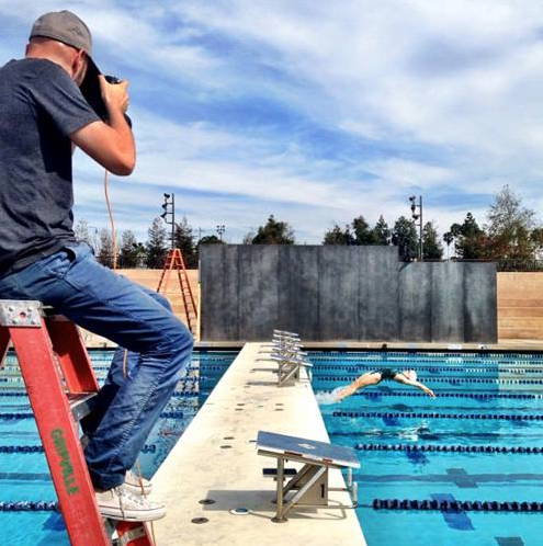 Shooting backstroke starts.