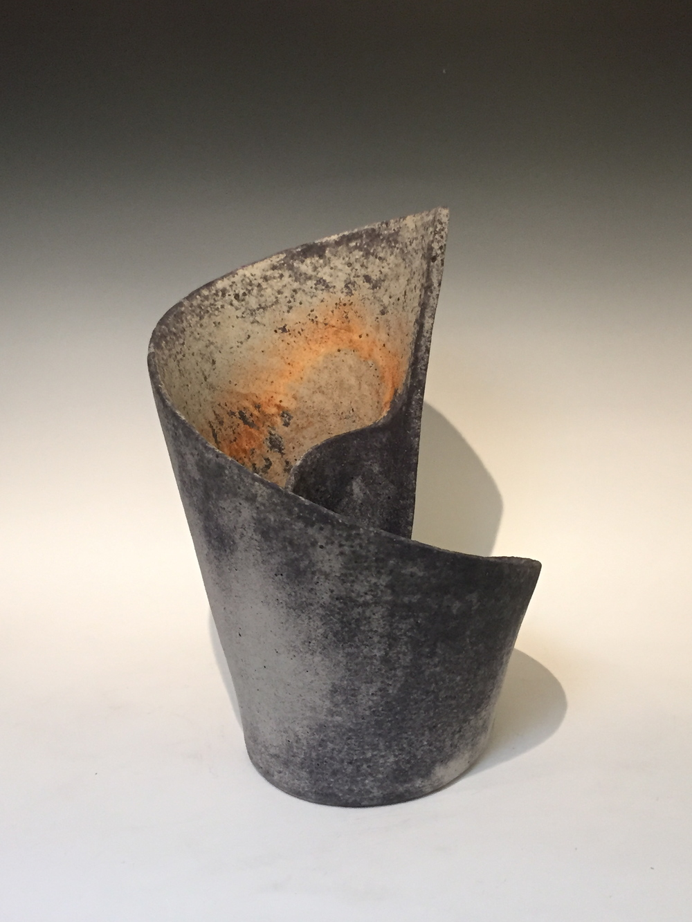 "Mihara Ken (Japan, born 1958). Stoneware sculpture. 16"" tall"