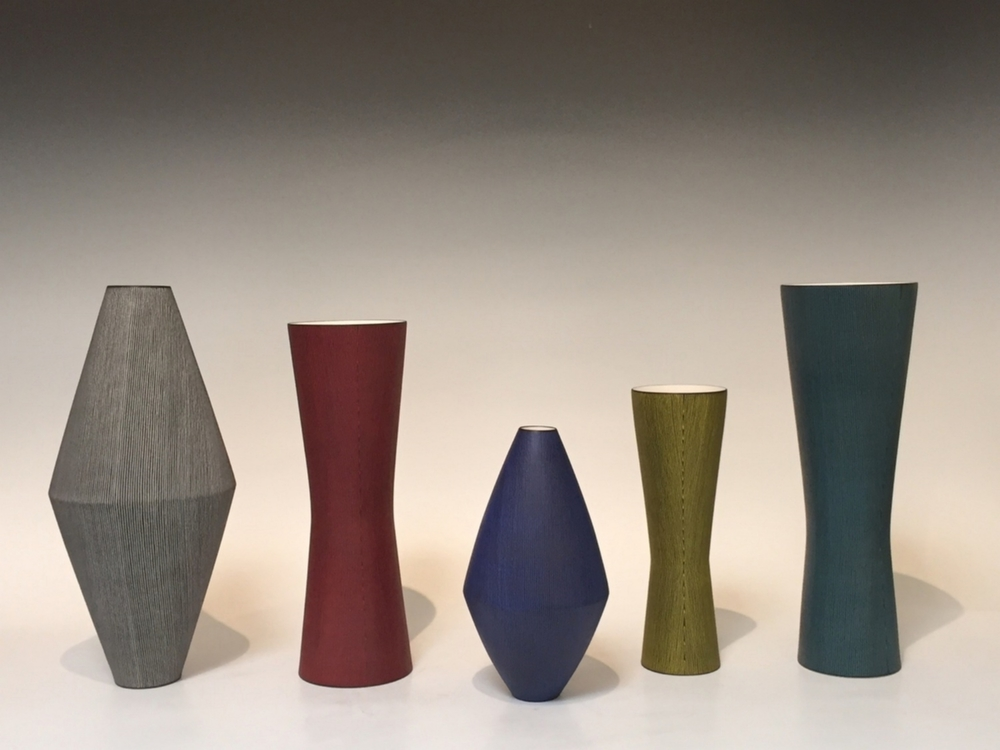 "Masaru Nakada (Japanese, born 1977). Porcelain Vases. From 8"" - 17"""