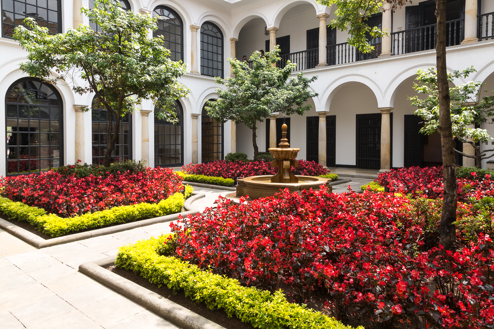 Inner Courtyard of the Botero Museum, Bogata