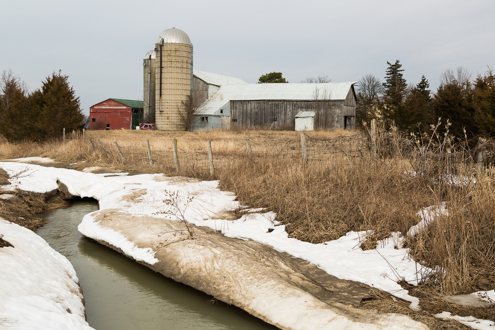 Farm Scene in Late Winter