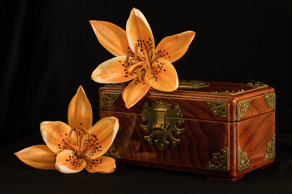 Lilies with Lacquered Box