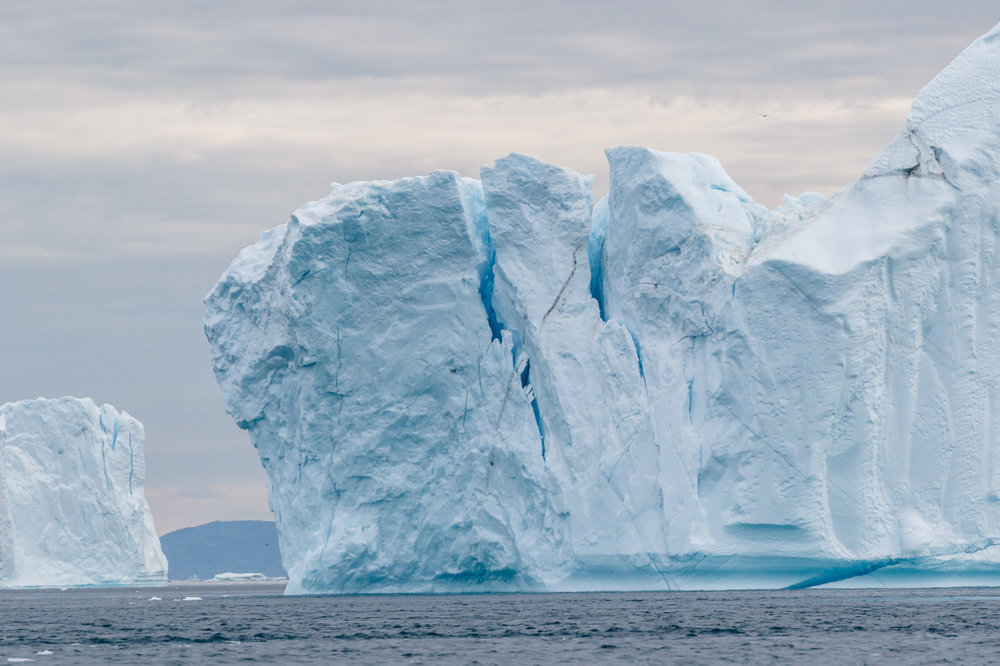 Large Iceberg with Deep Cracks