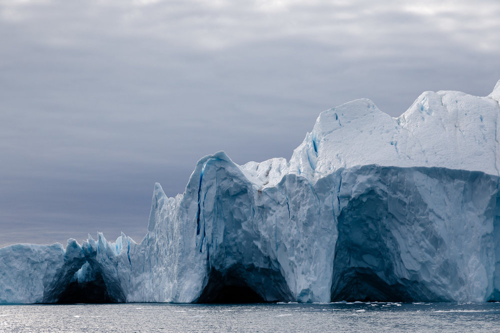 Icebergs off the coast of Greenland