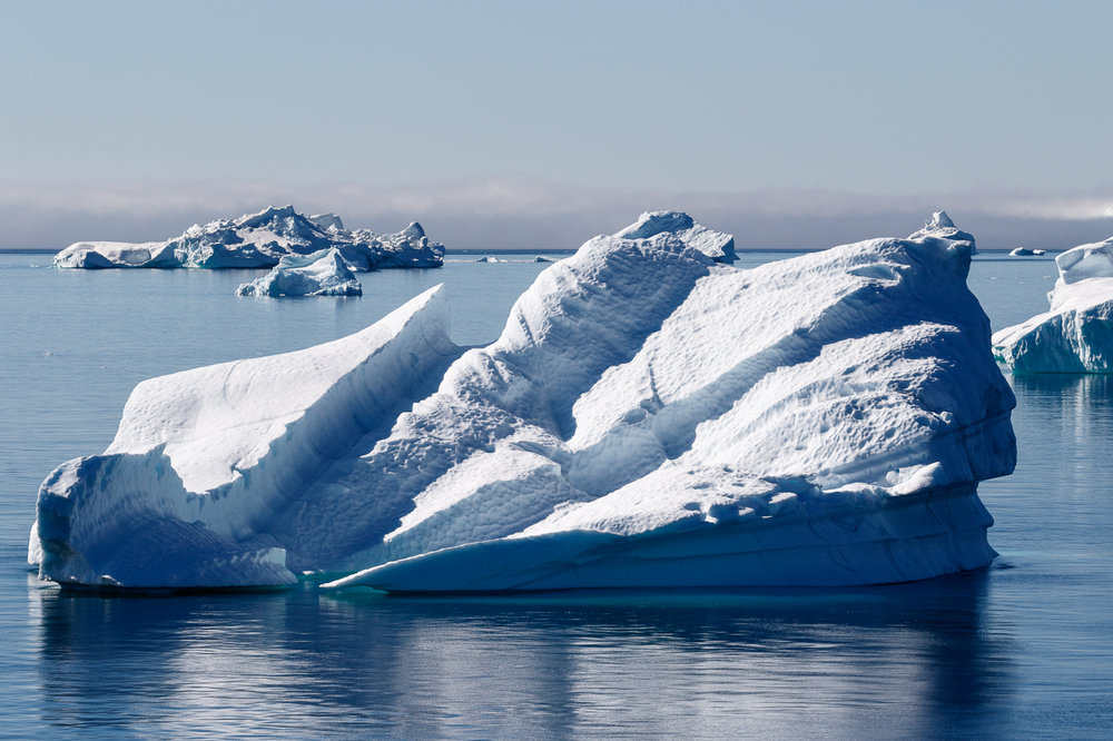 Iceberg Fragment Floating in Savit Bay