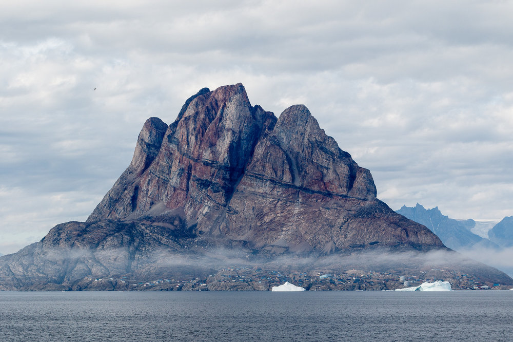 The Town and Mountain of Uummannaq, Greenland