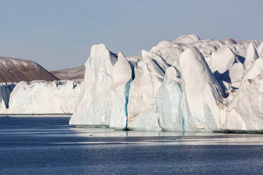 Glaciers and Icebergs in Croker Bay