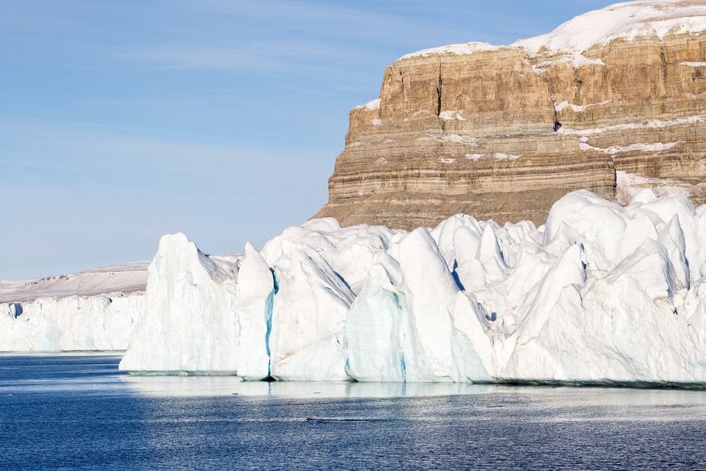 Glaciers and Rock Formations on Devon Island