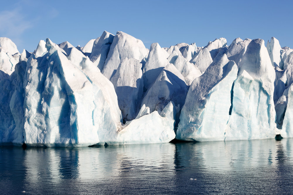 Icebergs Separating from the Glacier in Croker Bay