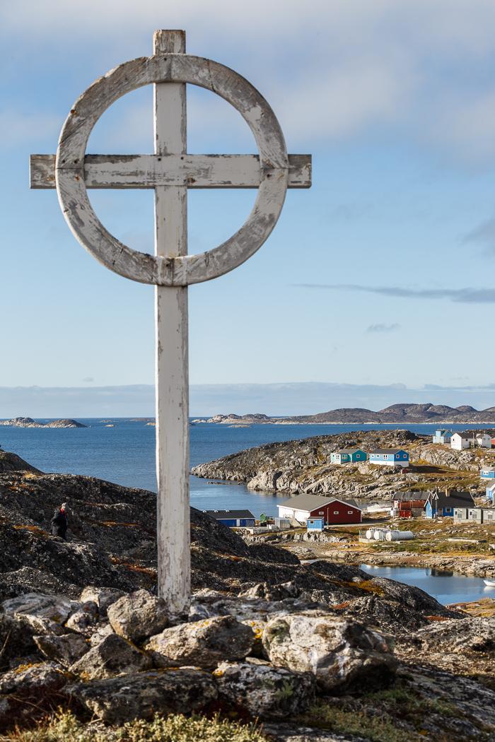 Cross Overlooking Itilleq, Greenland