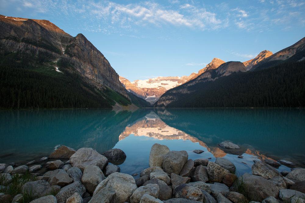 Sunrise on Lake Louise