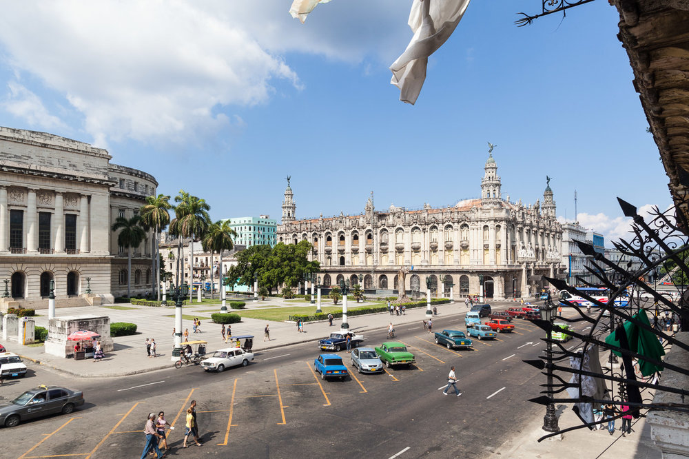 Side of the Capitol Building Seen from Above, Havana