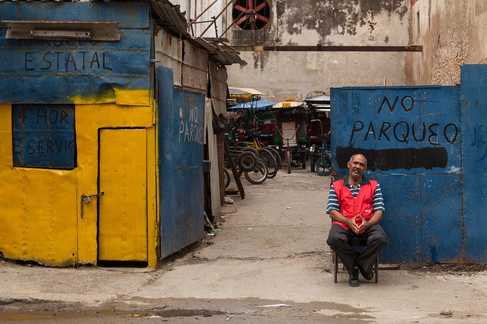 Parking Lot with Attendant on Duty, Havana