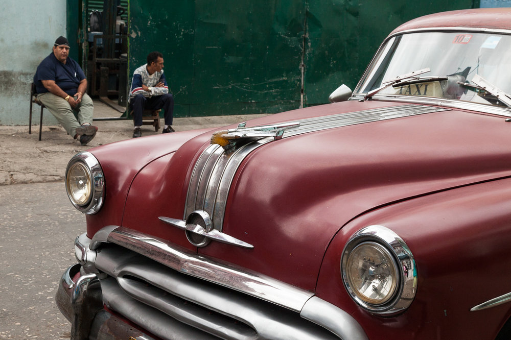 Cuban Men and an Old Beauty