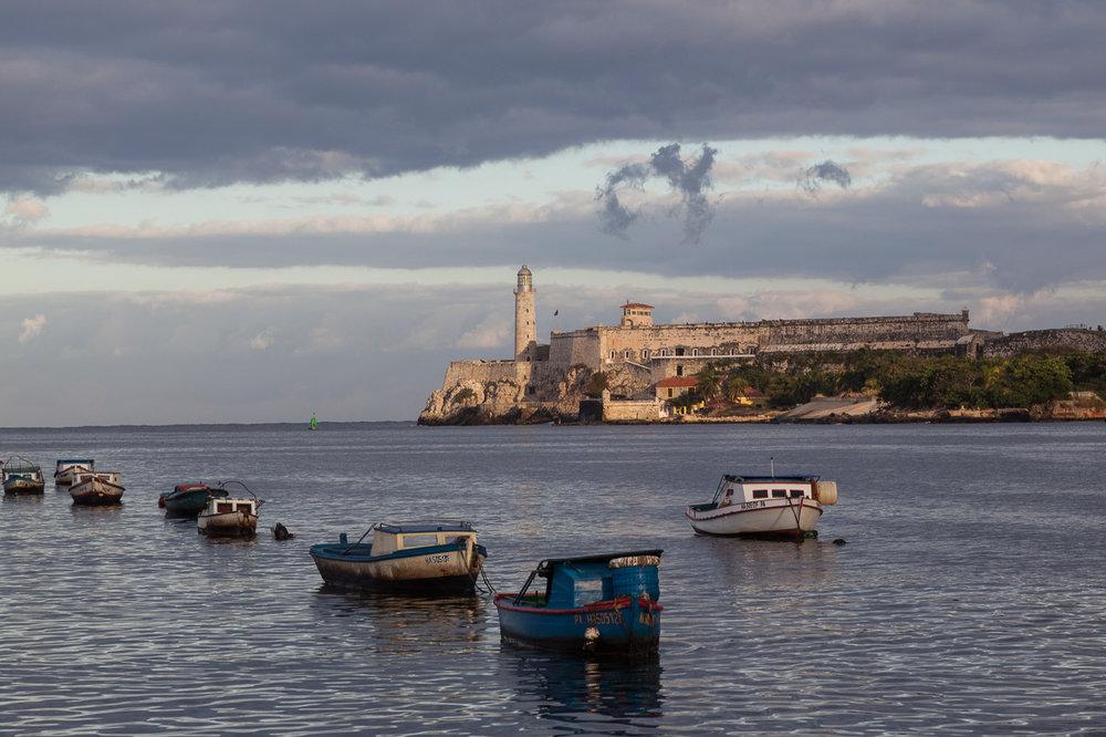 Boats in Havana Harbour