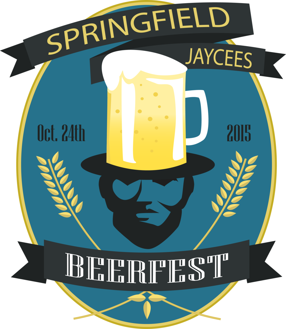 The 2015 Springfield Jaycees Beerfest designed by Colby Jennings.
