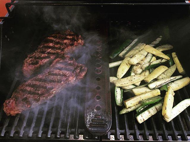 Good #grillmarks on tonight's #steak.